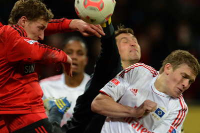 Stefan Kiessling scored a brace for Leverkusen against Hamburg